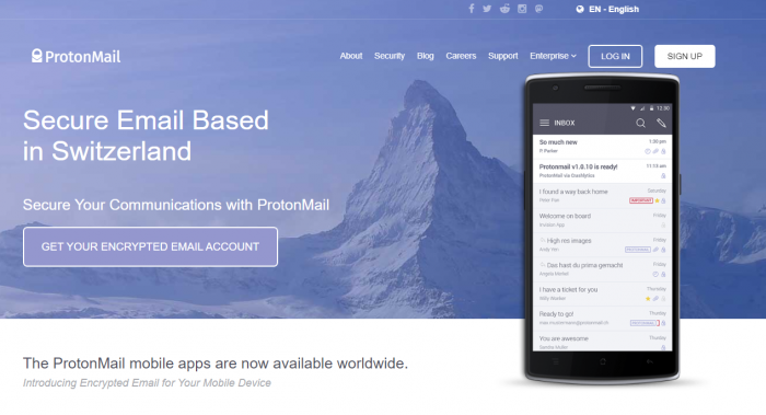protonmail encrypted mails